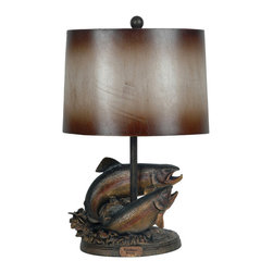 "Crestview - ""Rainbow Rising"" Table Lamp - Rainbow Rising Table Lamp 26.5""Ht Rainbow Bronze Finish."