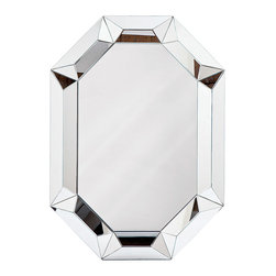 """Regina Andrew - Regina Andrew Framed Prism Mirror - Beautifully framed, the geometric Prism mirror dazzles with Regina Andrew's signature sophistication. This glam wall hanging reflects a suave demeanor from all angles. 36""""W x 2""""D x 50""""H"""