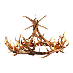 Muskoka Lifestyle Products - Rustic Elk 9 Antler Chandelier- with 12 Candle Lights - Our Rustic Elk 9 Antler Chandelier is the best faux antler chandelier available on the market. We have taken our replication process from our other rustic decor items and matched the authentic finish. Real antlers are used to model the reproduction for an exact and comparable result. The process to create the antler chandelier, uses a time proven, cast resin system to ensure perfection in every piece. We have hand-stained and antiqued each antler to achieve the exact comparable match to the real antler. Bring the perfect rustic decor to your home, cabin, or office with these antler chandelier reproductions. All antler chandeliers are UL listed to ensure absolute safety, quality, and US building code parameters are met.