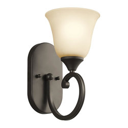Joshua Marshal - One Light Olde Bronze Wall Light - One Light Olde Bronze Wall Light