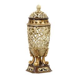 Sterling - Sterling 93-4436 Sculpted Ornate Urn - Sterling 93-4436 Sculpted Ornate Urn