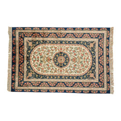 1800-Get-A-Rug - Pure Silk 600 kpsi Qum Flower Design Hand Knotted Oriental Rug Sh14793 - Silk was first developed in ancient China and was originally reserved for royalty because of its unique qualities. Thankfully, its special qualities are, today, available to all. A silk rug is the most intricate type of hand knotted Oriental carpet due to its one-of-a-kind fine lustrous weave, copious detail, and rich color combinations. Our collection includes stunning examples of classic Persian Tabriz, Kashan, Qum, Isfahan and the Turkish Hereke.