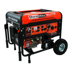 Duromax - DuroMax Elite 10,000-watt 16.0 Hp Gas Generator with Electric Start and Wheel Ki - The DuroMax 16 Horse Power 10000-watt CARB Approved series,is not only the essential generator to safeguard your family,but can provide you power when needed for work and play as well.