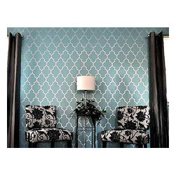 Cutting Edge Stencils - Marrakech Trellis Wall Stencil Pattern - Reusable Stencils for DIY Home Decor, S - Try wall stencils instead of expensive wallpaper! Cutting Edge Stencils offers the best stencils for DIY décor - stencils expertly designed by professional decorative painters Janna Makaeva and Greg Swisher who have over 20 years of painting experience. We are a reputable stencil company that stands behind its high quality product. We are honored to have your 100% positive feedback.