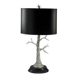 Cyan Design - Silver Tree Lamp - - Max Wattage: 100 Watts.
