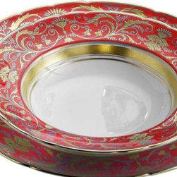 Royal Crown Derby - Royal Crown Derby Regency Red Salad Plate - Royal Crown Derby Regency Red Salad Plate