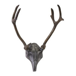 "IMAX - McDaniel Aluminum Antlers - This aluminum antler wall piece features realistic detail work and is finished in a deep brown finish to mimic the look of the hunters glen without harming any animal! Item Dimensions: (23""h x 13""w x 15"")"