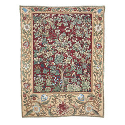 None - Tree of Life Wall Tapestry Red (2'10 x 2'2) - Color: Red Materials: Cotton Pattern: William Morris