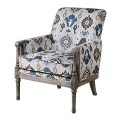 Uttermost - Uttermost - Dyani Arm Chair In Blue/Brown - 23172 - Dyani Collection Arm Chair