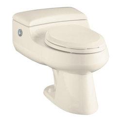 KOHLER - KOHLER K-3393-47 San Raphael Comfort Height Elongated One-Piece Toilet - KOHLER K-3393-47 San Raphael Comfort Height Elongated One-Piece Toilet with Power Lite Flushing Technology in Almond