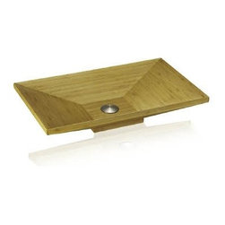 Lenova - Lenova Bac-05 Rectangle Above Counter Vessel Sink Bamboo - The Lenova BAC-05 Bamboo Rectangle Above Counter Bathroom Sink has overall sink dimensions of 24-Inch by 14-Inch by 4-1/2-Inch and left and right bowl dimensions of 24-Inch by 14-Inch by 4-1/2-Inch. The name Lenova is born from a love of space and stars where the universe is truly unlimited. In this boundless spirit we present a line of new and timeless designs for kitchen and bath sinks. Renewable materials in organic forms create an organically magic interior. A warm color with an easy going style, natural bamboo sinks add a very special element to any place. Bamboo bathroom vanities improve the style and beauty of bathrooms. A bamboo bathroom vanity serves as the focal point in a bathroom. Bamboo is a rapid growing grass that naturally replenishes itself. Lenova Sinkware extends a warranty for all Lenova Sinkware bamboo sinks against material and warping, leaking and delaminating to the original purchaser for fifteen years from date of installation or date of use.