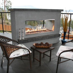 See-Thru Fireplace - Features: