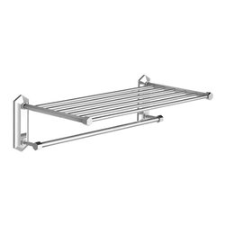 "Lefroy Brooks - Mackintosh 24"" Towel Rack, Polished Chrome - Known as the Rolls Royce of plumbing fixtures, Lefroy Brooks collections historically reference design aesthetics from turn of the century classics to today's minimalism. For over 25 years, Lefroy Brooks is known as the most recognized luxury-plumbing brand among the world's wealthiest consumers."