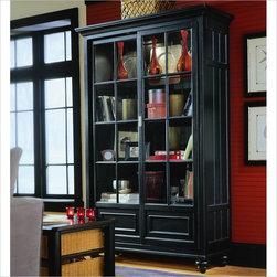 American Drew - American Drew Camden Black Bookcase China Cabinet - American Drew - China Cabinets - 919588