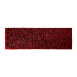 None - Grace Chili Pepper Red Cotton 22 x 60 Bath Runner - Add a gracious note of comfort to the bath or shower with the Grace Cotton collection of bath runners and rugs. The red rug's soft loop pile is made of 100-percent cotton with a classic design that blends with any decor.
