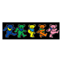 Oriental Furniture - Grateful Dead Dancing Bears Wall Art - The colorful, classic Grateful Dead dancing bears come to life in this authorized, limited edition giclee style canvas wall art print. Perfect for your home, studio, or office and ready to hang right from the box.