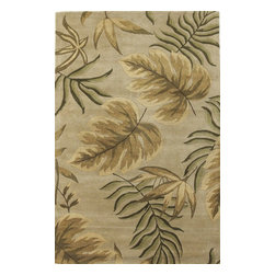 Kas - Country & Floral Havana 5'x8' Rectangle Sand Area Rug - The Havana area rug Collection offers an affordable assortment of Country & Floral stylings. Havana features a blend of natural Sand color. Hand Tufted of 100% Wool the Havana Collection is an intriguing compliment to any decor.