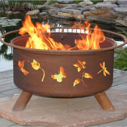 Patina Products - Patina Flower and Garden 31-Inch Fire Pit Multicolor - F110 - Shop for Fire Pits and Fireplaces from Hayneedle.com! If gardening is your passion now you can enjoy petals and blooms day or night with the unique cutout design of the Patina Flower and Garden Fire Pit. This fire pit has it all: convenient BBQ grill insert for cooking a spark stopping safety screen and even a poker. Made of durable cold-rolled steel this metal bottom fire pit with sturdy legs is perfect for entertaining or a quiet evening at home. Down-to-earth rust patina finish. No assembly required. FREE Fire pit cover is included! If you plan to use your fire pit on a wood deck we recommend placing it over a protective pad or paving stones which can be purchased at your local hardware store. Your Purchase Includes: Fire PitSpark ScreenGrill InsertFire PokerVinyl Cover