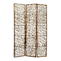 WILLON SCREEN - A round the bend. Natural willow is bent into an eye-catching design, making this screen a standout accent piece in its own right. Place it in front of a large window or a painted wall to allow light or color to peek through.