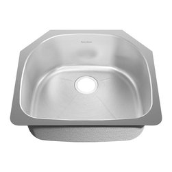 American Standard - SS Undermount 23.38 inch x 20.88 inch Single Bowl Kitchen Sink - American Standard 18SB.262100.073 SS Undermount 23.38 inch x 20.88 inch Single Bowl Kitchen Sink in Brushed Stainless Steel.