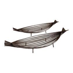 Cyan Design - Cyan Design 06220 Alexia Contemporary Decorative Tray (Pack of 2) - Cyan Design 06220 Alexia Contemporary Decorative Tray (Pack of 2)
