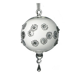 Blown Glass Ornament - Gorgeous globe ornaments with sophistication to spare, thanks to their hand-blown glass and dazzling crystal accents. Translucent reflectors amplify the lights on your tree, sending a warm glow throughout your room. They easily mix and match with any of your holiday heirlooms and become a treasure to pass down to family and friends.