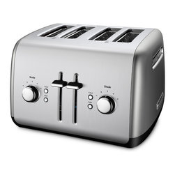 KitchenAid - KitchenAid RKMT4115CU Contour Silver 4-slice Toaster (Refurbished) - An attractive and functional addition to any countertop,the KitchenAid� 4-slice Toaster offers a variety of functions for everyday use. Complete with a high lift lever that makes it easy to remove whatever you're toasting.