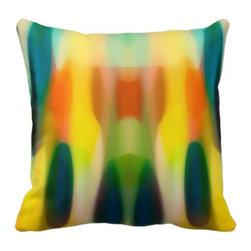 Abstract Art Fury Rain Pillow 2 - BUY HERE:   VangsgardGallery