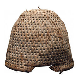 Bee Skep - Traditional Beekeepers mobile hive.  Excellent shape- with only very small fraying at entrance to hive. Wonderful patina  and tightly woven.