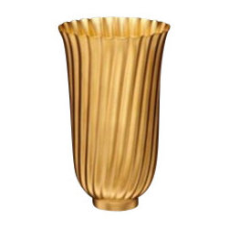 "L'Objet - L'Objet Carrousel Gold Small Vase - L'Objet is best known for using ancient design techniques to create timeless, yet decidedly modern serveware, dishes, home decor and gifts. 24k Gold Plated. Hand Forged in Brass. Measurements: 4"" x 6.5"" Luxuriously Gift Boxed"