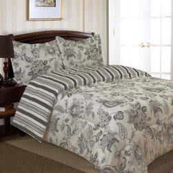 Divatex Home Fashions Cordoba Bedding Set - Gray - Contrast, stylized graphics, and a contemporary sensibility make the Divatex Home Fashions Cordoba Bedding Set - Gray the perfect accent for your bedroom. The super soft microfiber set features a gorgeous and reversible gray and white pattern so the look stays fresh. Available in your choice of sizes.About Divatex Home Fashions Inc.Initially a family owned and operated business, Divatex has far outgrown its humble beginnings in 1990 and has expanded the world over. Divatex is constantly looking to improve its products and examines both emerging trends and technologies in the textile industry and consumer marketplace. For the bedroom and bath, from sheets to towels, Divatex is quickly becoming an industry giant, while still remaining committed to quality and customer service.