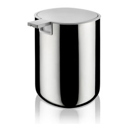 Alessi - Alessi Birillo Soap Dispenser - This sleek dispenser keeps liquid soap contained in style and the full lid pump makes hand washing simply delightful. Available in white or mirror-polished stainless steel to match your bath or kitchen. Part of Piero Lissoni's stylish home collection, which transforms ordinary essentials into extraordinary works of art.