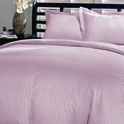 SCALA - 600TC Stripe Lilac Full XL Flat Sheet & 2 Pillowcases - Redefine your everyday elegance with these luxuriously super soft Flat Sheet . This is 100% Egyptian Cotton Superior quality Flat Sheet that are truly worthy of a classy and elegant look.