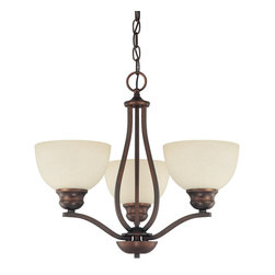 Capital Lighting - Capital Lighting Stanton Transitional Chandelier X-702-BB3304 - Rustic details and a rustic burnished bronze finish give this chandelier a gorgeous look. The Capital Lighting Stanton Transitional chandelier looks perfect to accent an antique decor or to bring a vintage feel into a more modern room. The mist scavo glass perfectly distributes the light making sure it gives off the ideal glow.
