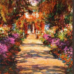 Artcom - Il Viale del Gardino by Claude Monet - Il Viale del Gardino by Claude Monet is a Stretched Canvas Print.