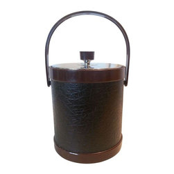 Pre-owned Vintage Ice Bucket - Cocktail hour instantly becomes a glamorous occasion with this large-scale ice bucket. The faux alligator and metal lid are swoon-worthy!