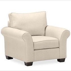 """PB Comfort Roll UpholsteredArmchairEverydaySuedeStoneUpholsteredPoly - Built by our own master upholsterers in the heart of North Carolina, our PB Comfort Upholstered Roll-arm Armchair is designed for unparalleled comfort with extra-deep seats and three layers of padding. 41.5"""" w x 40"""" d x 37"""" h {{link path='pages/popups/PB-FG-Comfort-Roll-Arm-4.html' class='popup' width='720' height='800'}}View the dimension diagram for more information{{/link}}. {{link path='pages/popups/PB-FG-Comfort-Roll-Arm-6.html' class='popup' width='720' height='800'}}The fit & measuring guide should be read prior to placing your order{{/link}}. Choose polyester wrapped cushions for a tailored and neat look, or down-blend for a casual and relaxed look. Choice of knife-edged or box-style back cushions. Proudly made in America, {{link path='/stylehouse/videos/videos/pbq_v36_rel.html?cm_sp=Video_PIP-_-PBQUALITY-_-SUTTER_STREET' class='popup' width='950' height='300'}}view video{{/link}}. For shipping and return information, click on the shipping tab. When making your selection, see the Quick Ship and Special Order fabrics below. {{link path='pages/popups/PB-FG-Comfort-Roll-Arm-7.html' class='popup' width='720' height='800'}} Additional fabrics not shown below can be seen here{{/link}}. Please call 1.888.779.5176 to place your order for these additional fabrics."""
