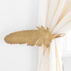 Magical Thinking Feather Curtain Tieback