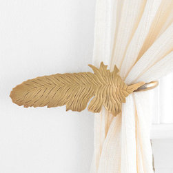 Magical Thinking Feather Curtain Tieback - This little boho feather is the perfect curtain tieback. These little details are often overlooked, but they really do make an important impact.