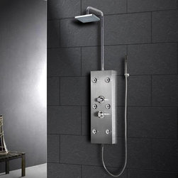 Shower Panels - A noble shower is a benefit to any bathroom. An excessive shower can make a bathroom a showroom. Somewhat than hiding shower items behind puffy drapery or plastic curtains, picking the right shower panels can make the transformation between bathrooms that stay shut behind a door and bathrooms that become part of the visit of the house. Shower panels are as attractively diverse as the rest of the fittings in the bathroom are, and are made of a selection of materials. Any category of panel can be chosen to neat up even the humblest shower compartment. Of any kind the layout of the bathroom, the shower panel can attraction the eye and help tie in design with furnishings.