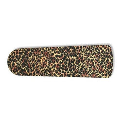 """Leopard Animal Print 52"""" Ceiling Fan BLADES ONLY - These are beautiful custom blades for your home. This is a set of 5 brand new high quality designer ceiling fan blades. The surface is easy to clean with a damp cloth. These are universal for 52"""" fans. Double the measurement from the center of the fan to the tip of one blade. Several different mediums are used, all are non-toxic. You can be confident that this product will last for years to come. You'll love showing off your new unique blades. These are not licensed products, but are made with licensed materials."""