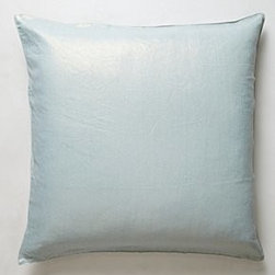 "Anthropologie - Shimmering Sunset Pillow - By Christen MaxwellBottom zipLinen; down fillDry cleanSmall: 18"" squareMedium: 26"" squareLarge: 30"" squareUSA"