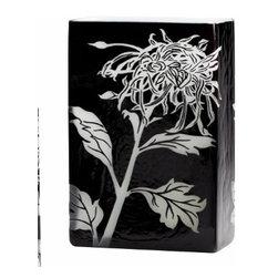Black and White Wild Dandelion Design Modern Vase- Large - *Large Wild Dandelion Vase