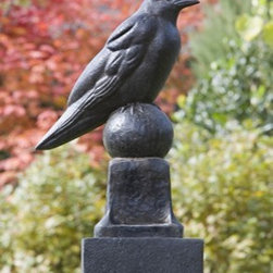 Raven - Modern and unique, this distinctive Raven is certain to be the center of attention. The statue features wonderful attention to detail, from his sharp pointed beak to his intricate feathers. Brimming with charm and character, this adorable statue will add your own personality to your garden setting.