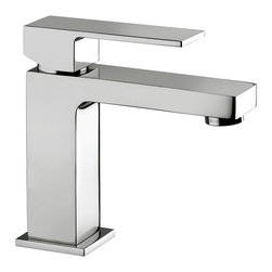 WS Bath Collections - Elle EL 071 Bathroom Faucet - Elle by WS Bath Collections, Single Lever Bathroom Faucet, in Polished Chrome