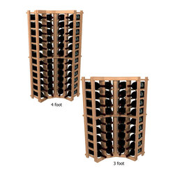 Wine Cellar Innovations - Curved Corner Individual Bottle WineMaker Wine Rack in Rustic Pine Unstained - 3 - This curved wine rack kit makes an excellent solution to attractively store your wine where a 90 degree directional transition is needed, or just to add creativity to the design of the wine room. Assembly Required.