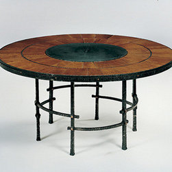 The No. WR 19 Sunburst Table with the No. WR 14 Six Leg Arts and Crafts Base - The No. WR 19 Sunburst Table with the No. WR 14 Six Leg Arts and Crafts Base
