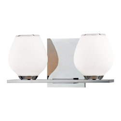 Hudson Valley - 1192-PC Verona Bath Vanity Light, Polished Chrome, Mouth Blown Opal Glass - Modern Contempo Bath Vanity Light in Polished Chrome with Mouth Blown Opal glass from the Verona Collection by Hudson Valley.