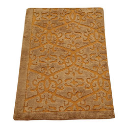 1800-Get-A-Rug - Wool and Silk Embossed Raised Modern Hand Knotted Rug Sh12279 - About Modern & Contemporary