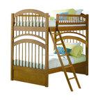Atlantic Furniture - Atlantic Furniture Windsor Bunk Bed Twin Over Twin in Caramel Latte - Atlantic Furniture - Bunk Beds - AB57107